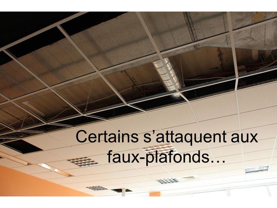 Certains sattaquent aux faux-plafonds…