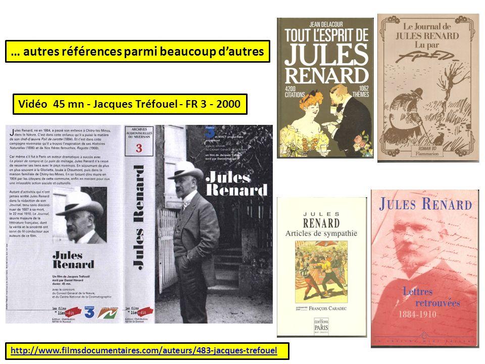 http://www.filmsdocumentaires.com/auteurs/483-jacques-trefouel … autres références parmi beaucoup dautres Vidéo 45 mn - Jacques Tréfouel - FR 3 - 2000