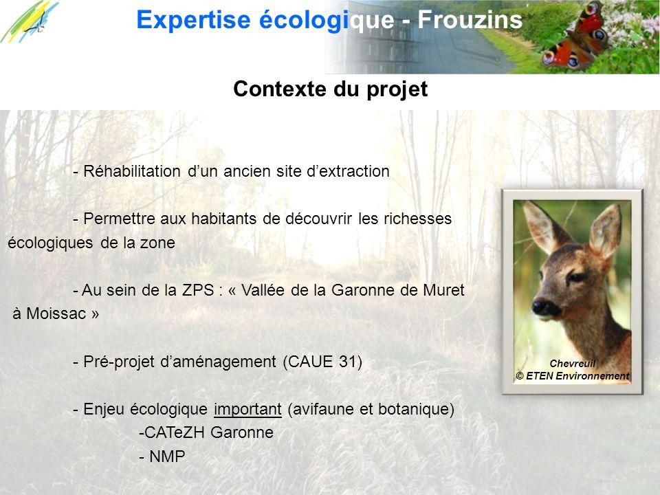Contexte du projet - Réhabilitation dun ancien site dextraction - Permettre aux habitants de découvrir les richesses écologiques de la zone - Au sein