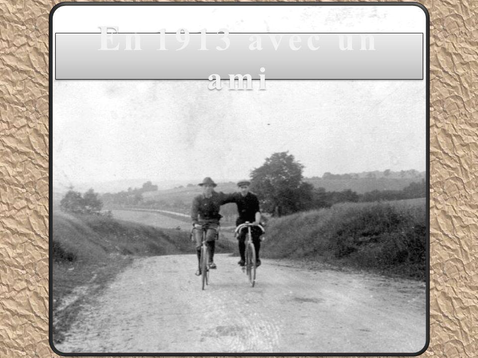 En 1913 avec un ami