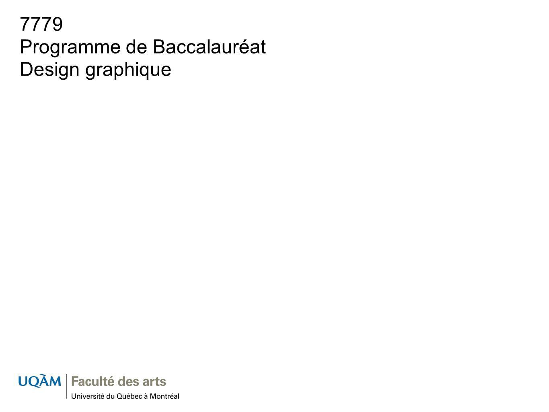 7779 Programme de Baccalauréat Design graphique