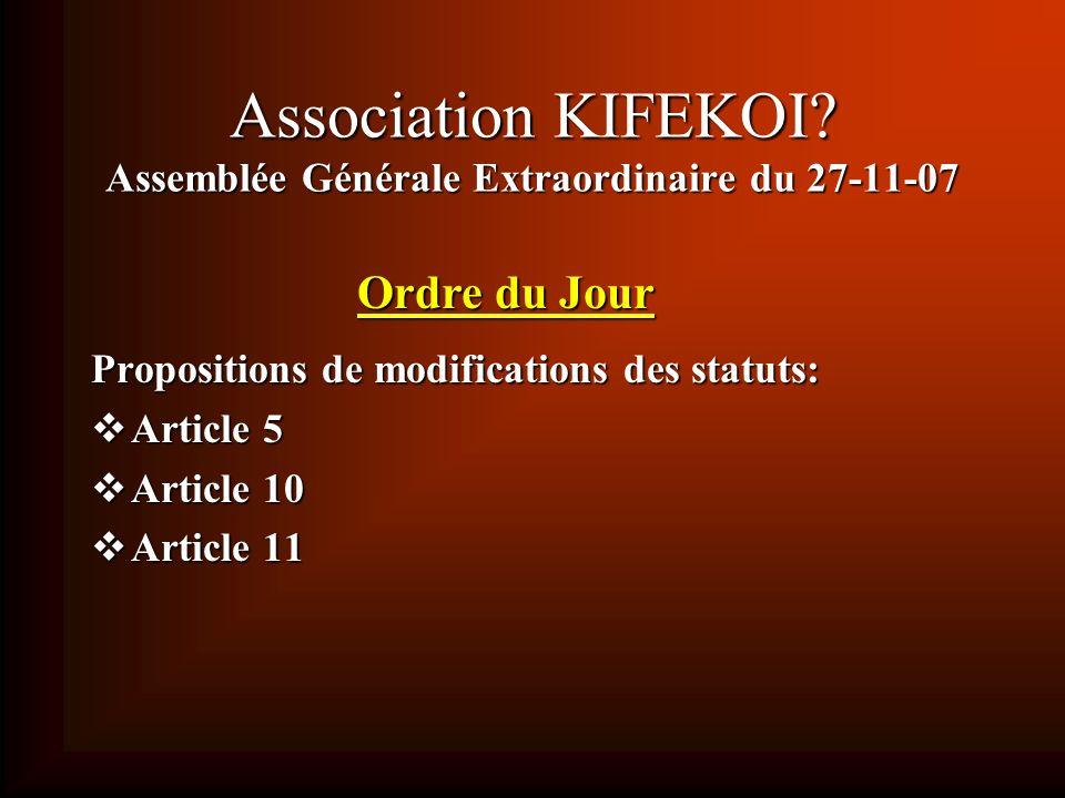 Assemblée Générale Ordinaire du 27-11-07 Élection au Conseil dAdministration