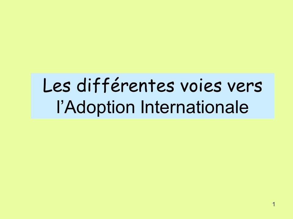 1 Les différentes voies vers lAdoption Internationale