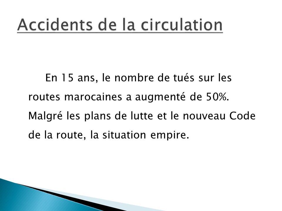 En 15 ans, le nombre de tués sur les routes marocaines a augmenté de 50%.