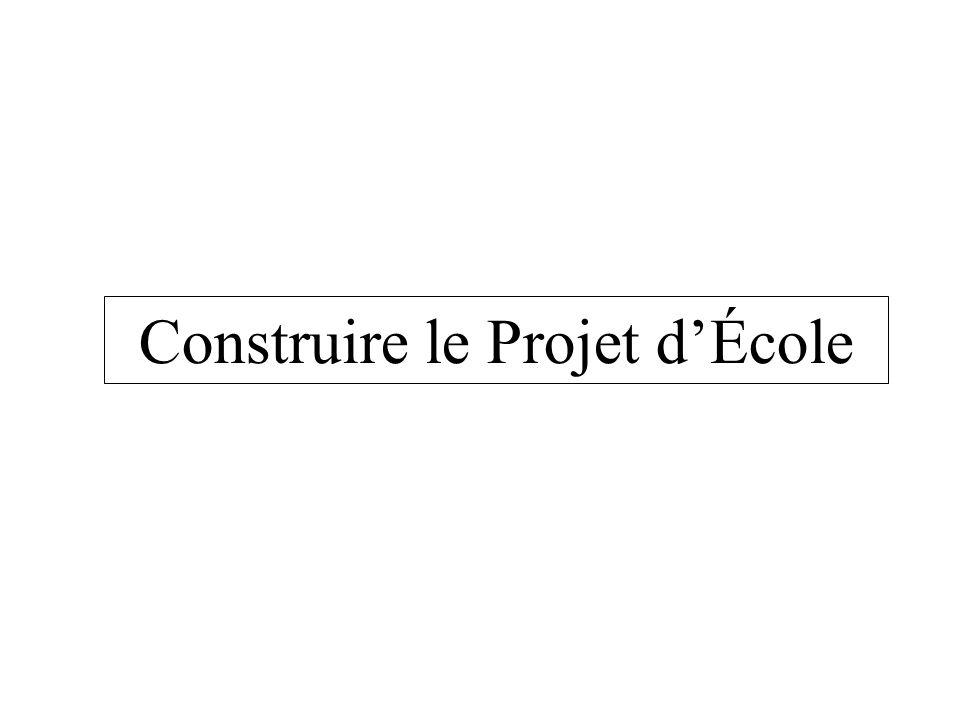 Construire le Projet dÉcole