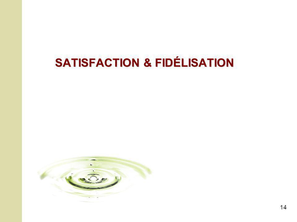 14 SATISFACTION & FIDÉLISATION