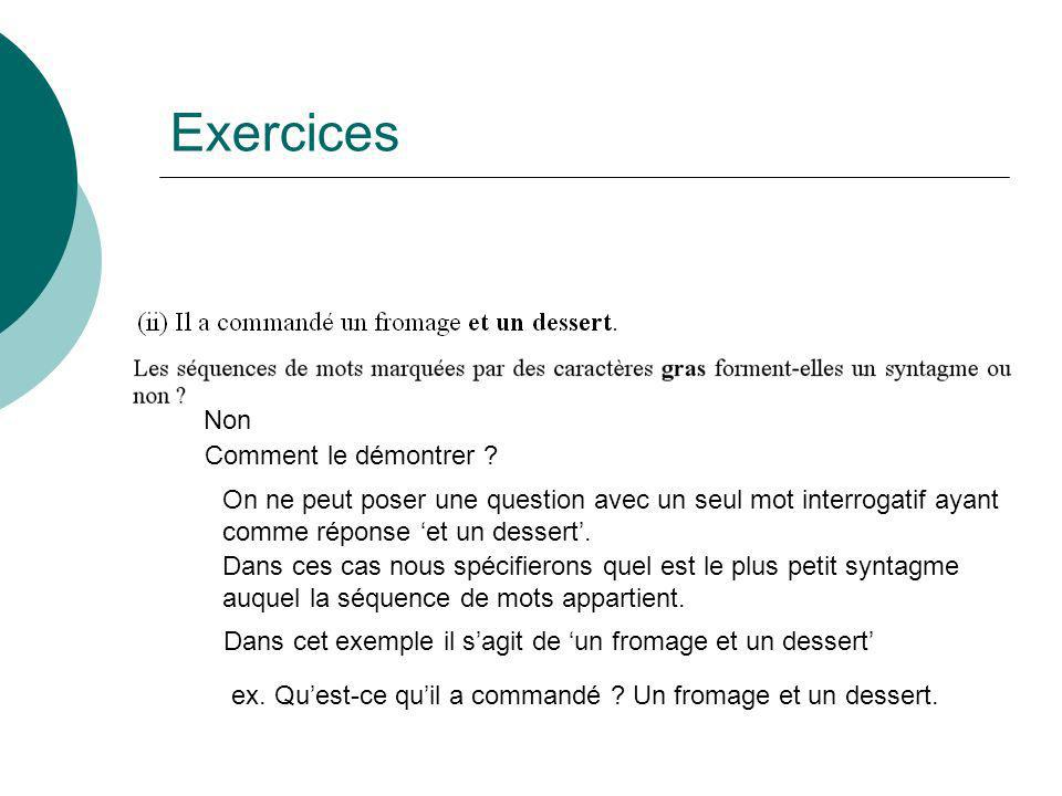 Exercices Non Comment le démontrer .