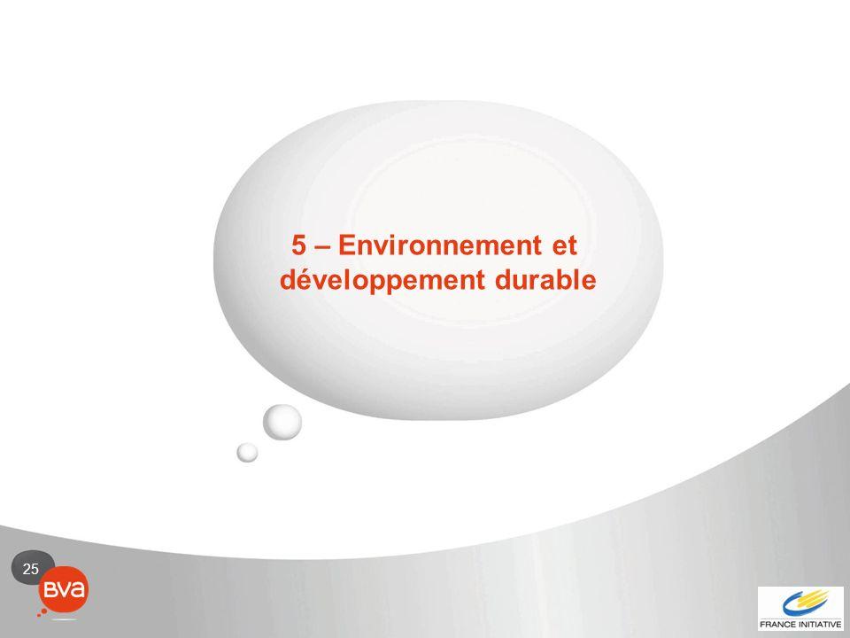 25 5 – Environnement et développement durable