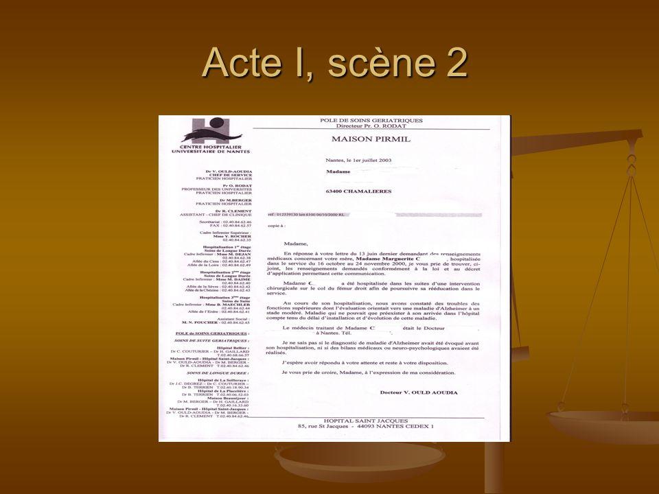 Acte I, scène 2 Acte I, scène 2