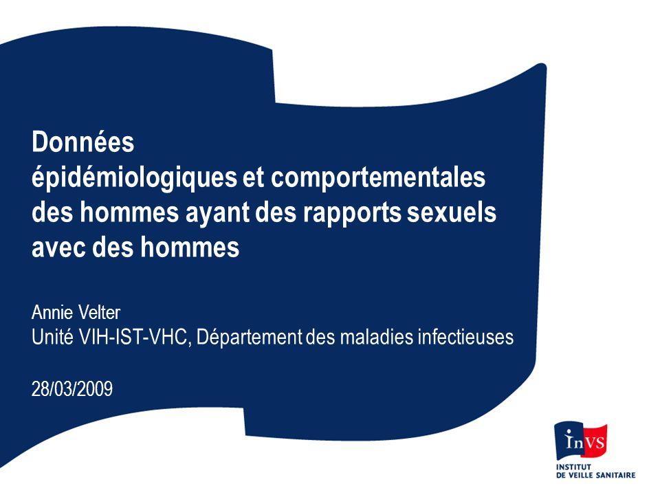 Nombre moyen de gonocoques isolés par an par laboratoire, Rénago, France, 1990 - 2007 Age moyen : Hommes 31 ansFemmes 27 ans