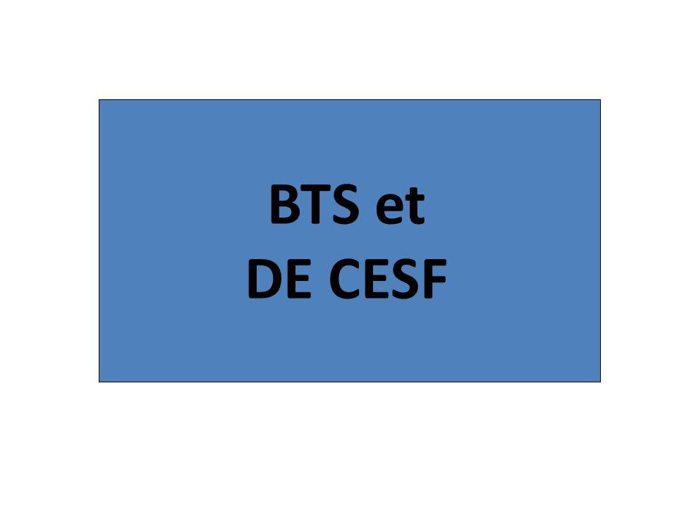 BTS et DE CESF