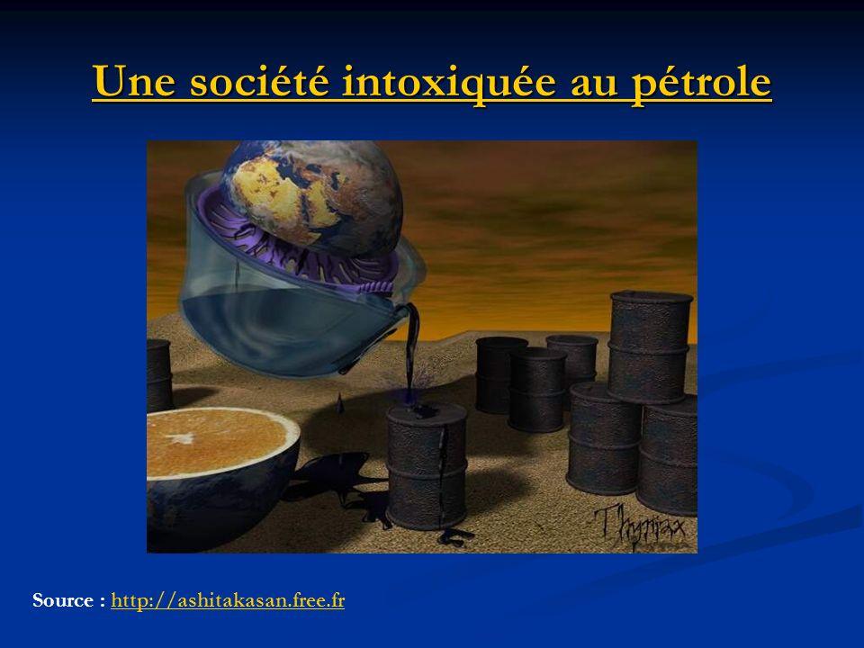 Une société intoxiquée au pétrole Source : http://ashitakasan.free.frhttp://ashitakasan.free.fr