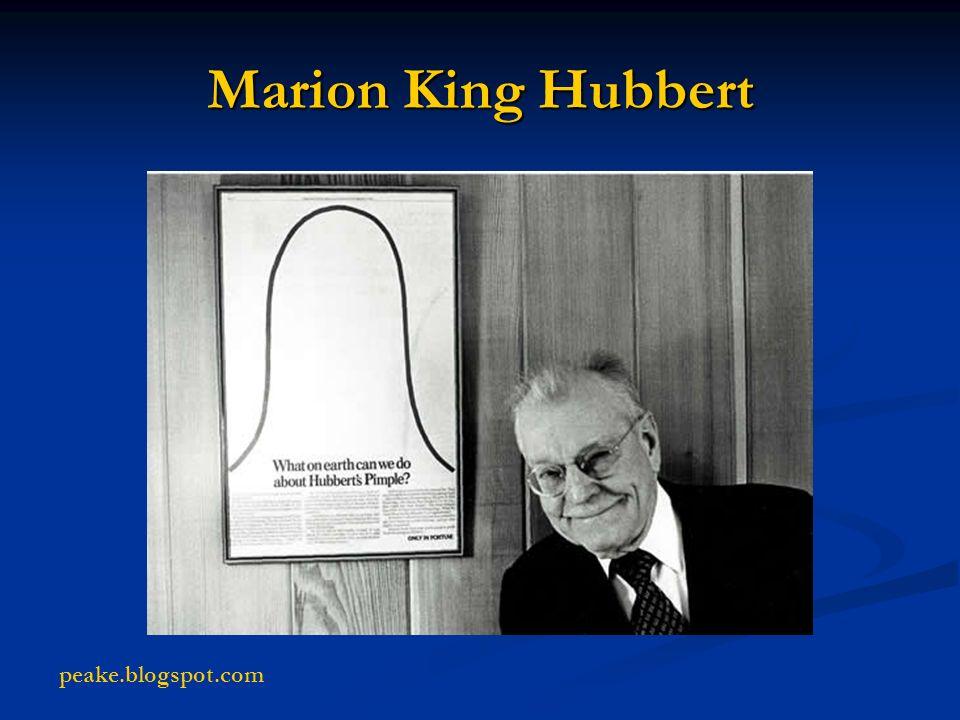 Marion King Hubbert peake.blogspot.com