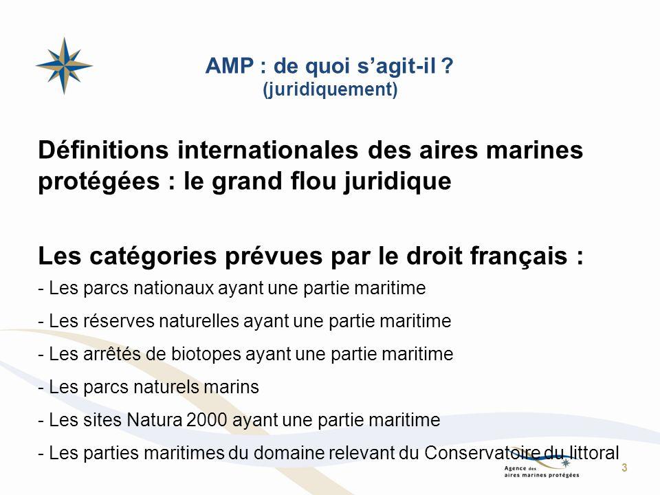 AMP : de quoi sagit-il ? (juridiquement) Définitions internationales des aires marines protégées : le grand flou juridique Les catégories prévues par