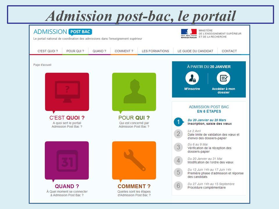 Admission post-bac, le portail