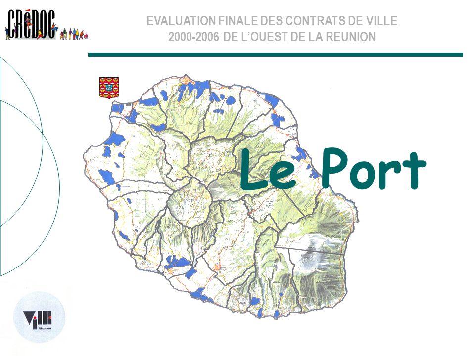 EVALUATION FINALE DES CONTRATS DE VILLE 2000-2006 DE LOUEST DE LA REUNION Les thématiques sectorielles La géographie prioritaire Pour la commune, c est tout son territoire qui devrait relever de la géographie prioritaire.