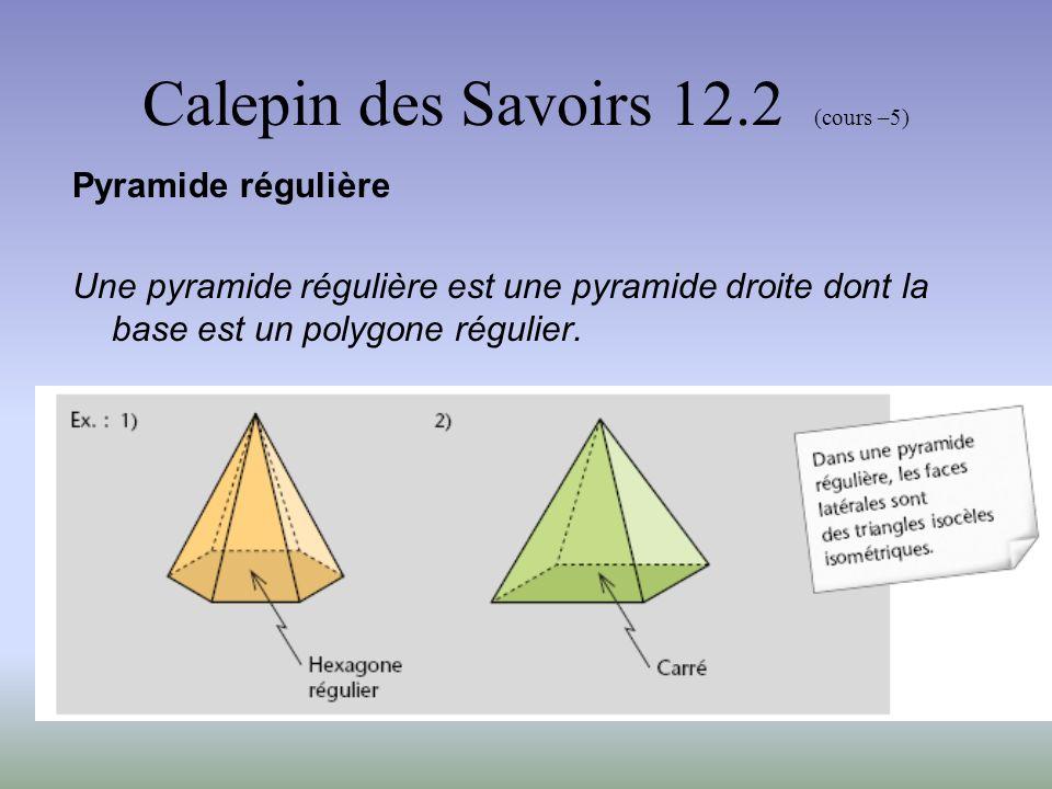 Calepin des Savoirs 12.2 (cours –5) Travail en classe À laide des modèle qui circuleront dans la classe Identifie chacun des modèles avec précision.