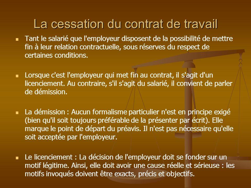 Le licenciement donne droit, en principe, à une indemnité de licenciement, sauf en cas : de faute grave ou lourde ; d impossibilité de son exécution ; d exonération légale ; de décision expresse et unilatérale de l employeur ; d accord des parties, sur demande du salarié (pas d indemnité compensatrice dans cette hypothèse).