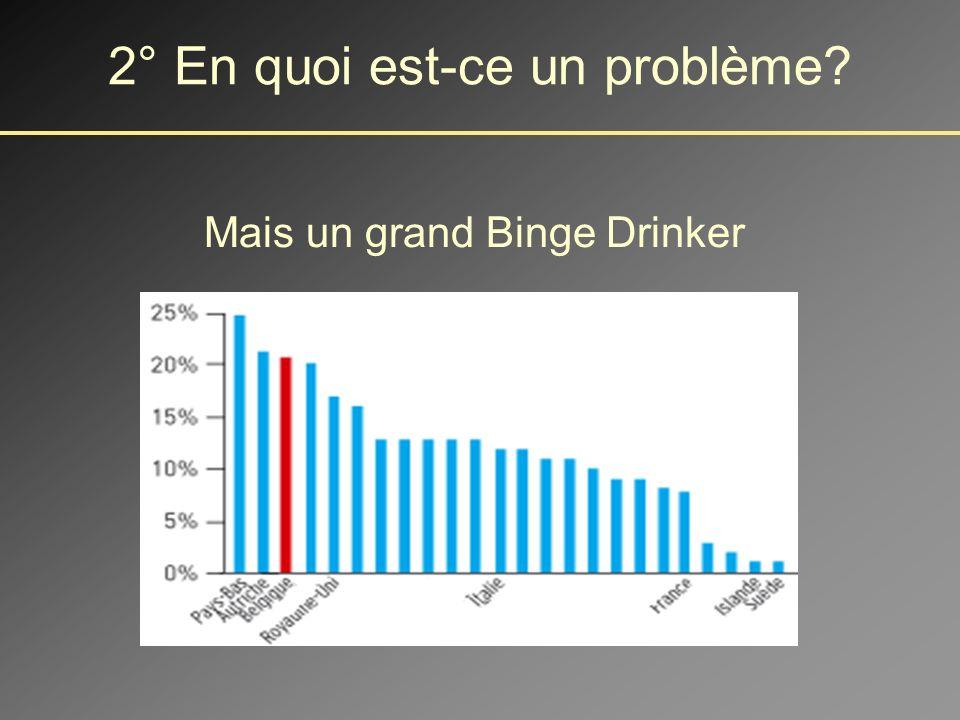 Le Belge est un buveur moyen 2° En quoi est-ce un problème?