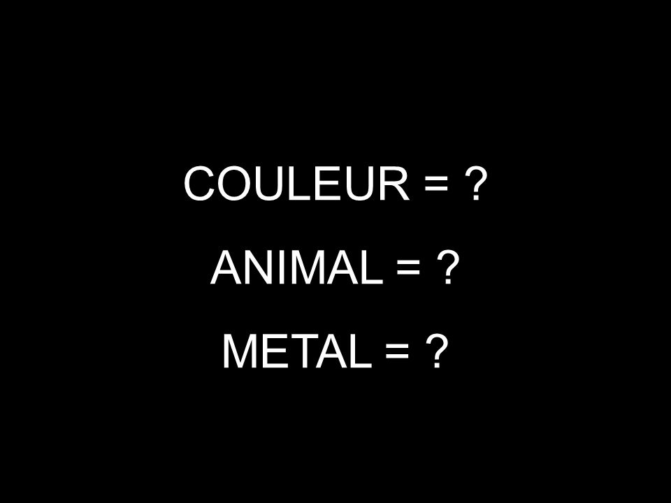 ANIMAL METAL COULEUR PLOMB