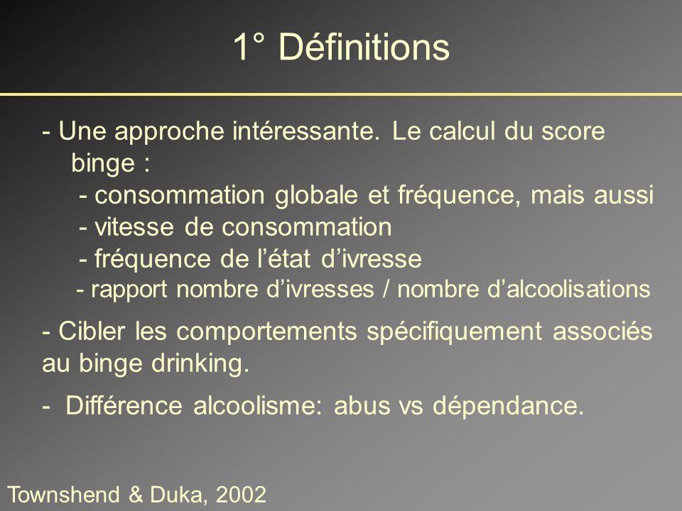 Capacités motrices et visuospatiales 4° Les effets du Binge Drinking