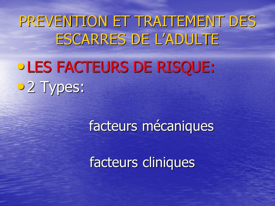LES FACTEURS DE RISQUE: LES FACTEURS DE RISQUE: 2 Types: 2 Types: facteurs mécaniques facteurs mécaniques facteurs cliniques facteurs cliniques