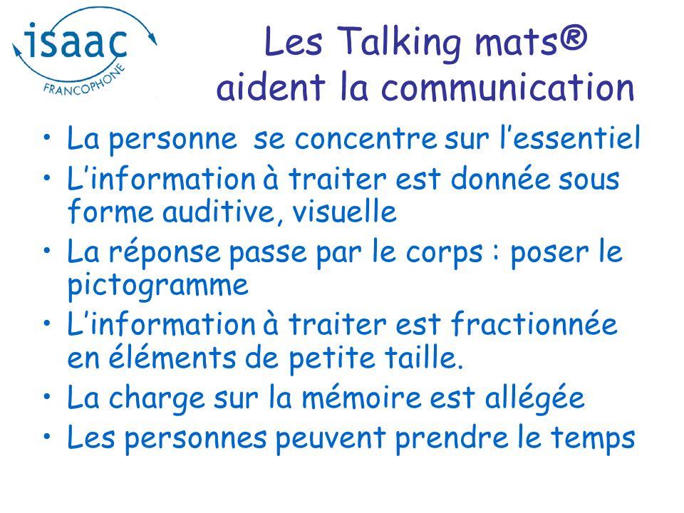 Une bonne nouvelle Le 20 octobre à Paris : une formation initiale sur les Talking Mats® Inscrivez-vous auprès de Isaac.