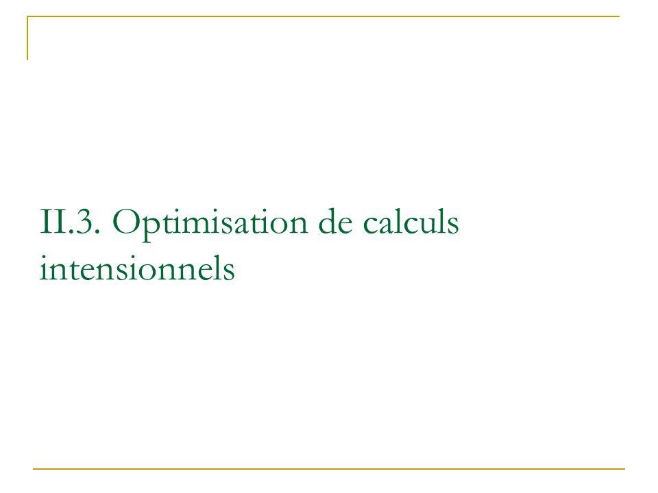 II.3. Optimisation de calculs intensionnels
