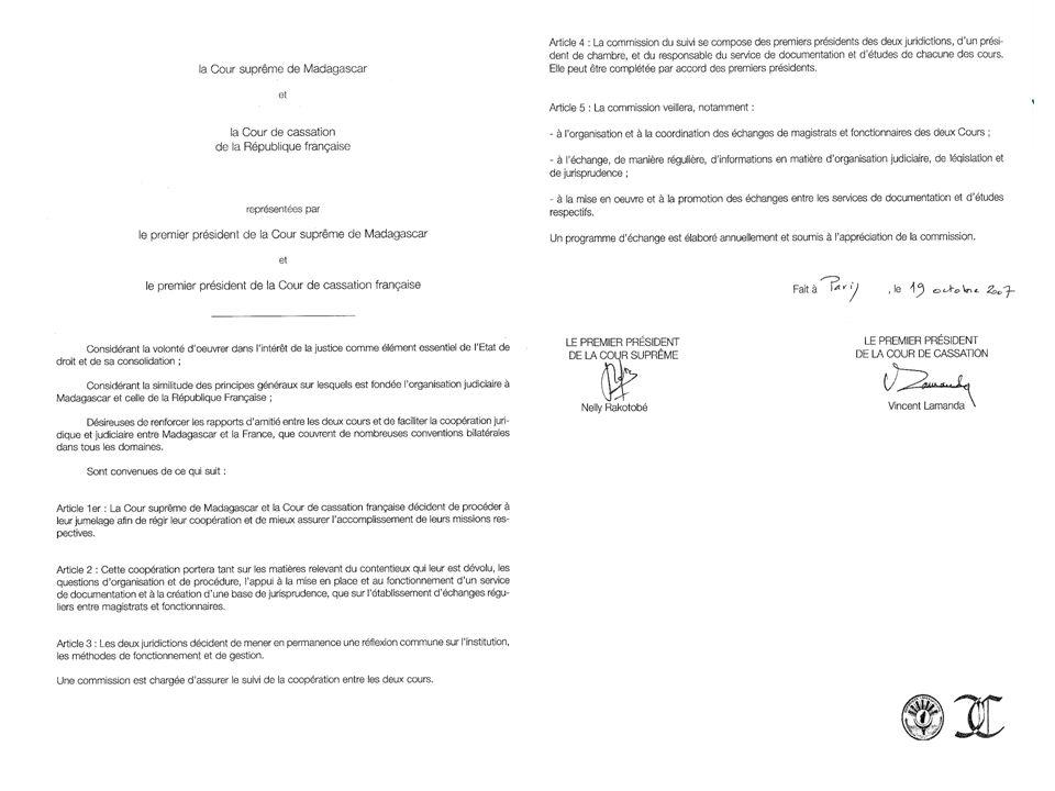 Lundi 12 octobre 2009 – Le Caire Deuxième convention des juristes de la Méditerranée 10