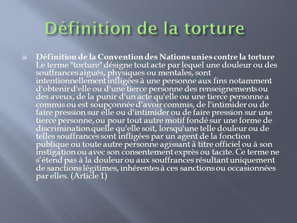 Toute personne torturée ne développe pas forcément des symptômes psychologiques ou des plaintes physiques.