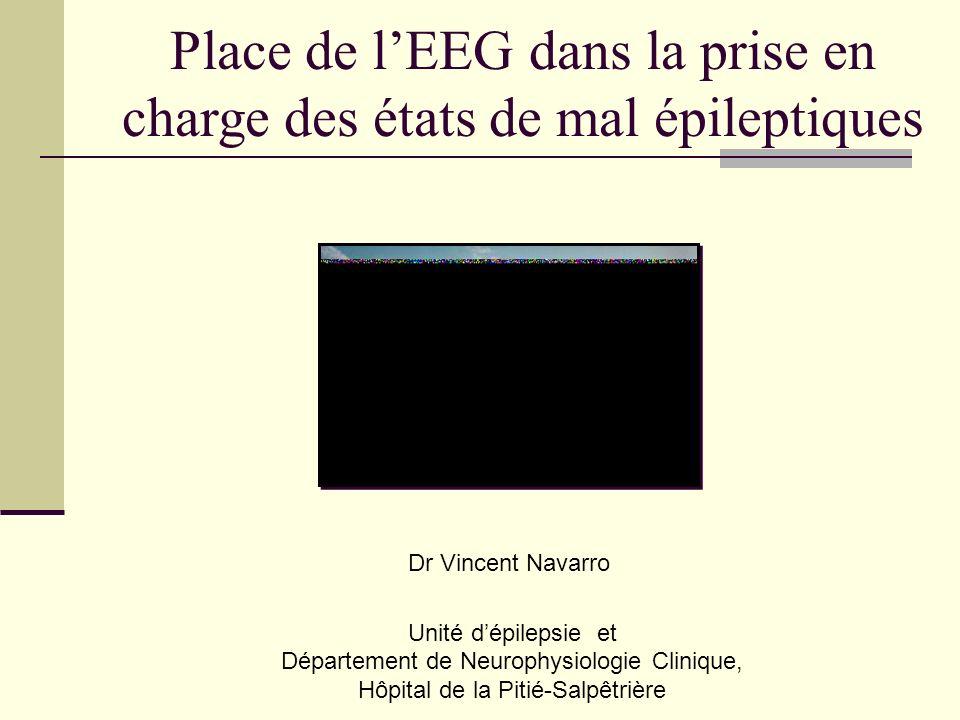 Unité dépilepsie et Département de Neurophysiologie Clinique, Hôpital de la Pitié-Salpêtrière Place de lEEG dans la prise en charge des états de mal épileptiques Dr Vincent Navarro