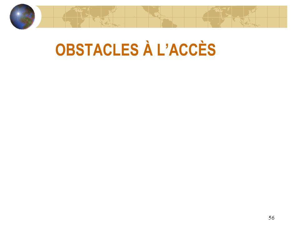 56 OBSTACLES À LACCÈS