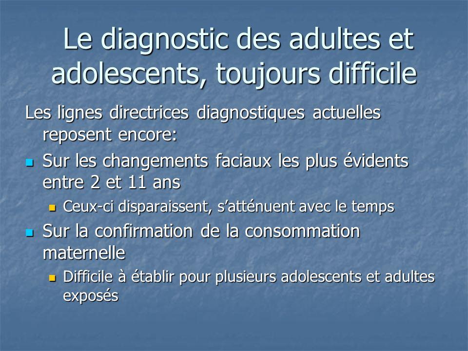 Le diagnostic des adultes et adolescents, toujours difficile Le diagnostic des adultes et adolescents, toujours difficile Les lignes directrices diagn