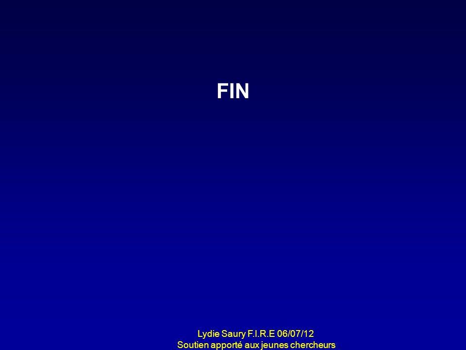 FIN Lydie Saury F.I.R.E 06/07/12 Soutien apporté aux jeunes chercheurs