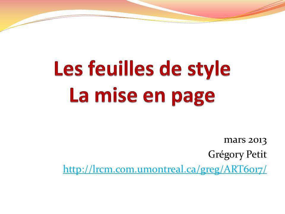 CSS à lintérieur dun élément HTML (à éviter) Attribut style à lintérieur de la balise douverture de lélément HTML Ceci est un titre.