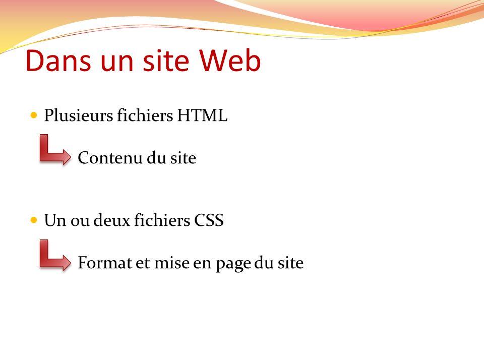 Trois emplacements différents Dans un fichier CSS à part.