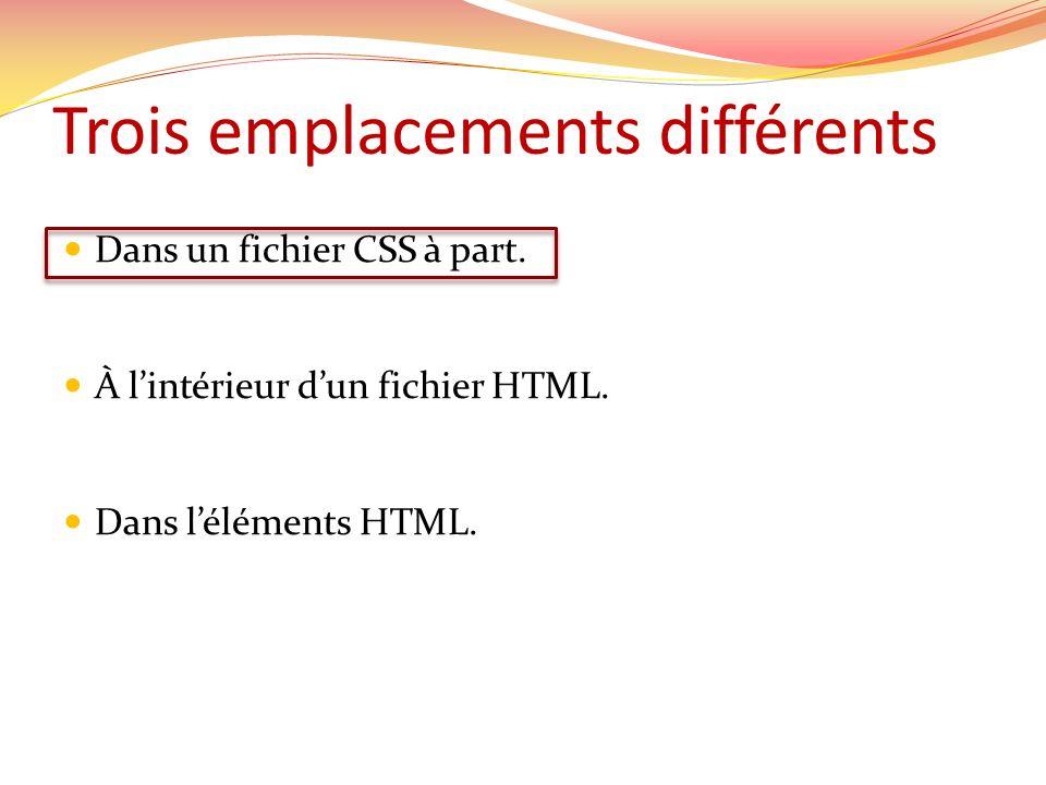 Fichier CSS existant Dans lentête du fichier HTML, la liaison se fait comme suit: Dans Dreamweaver, il faut penser à mettre la nouvelle règle dans le fichier existant.