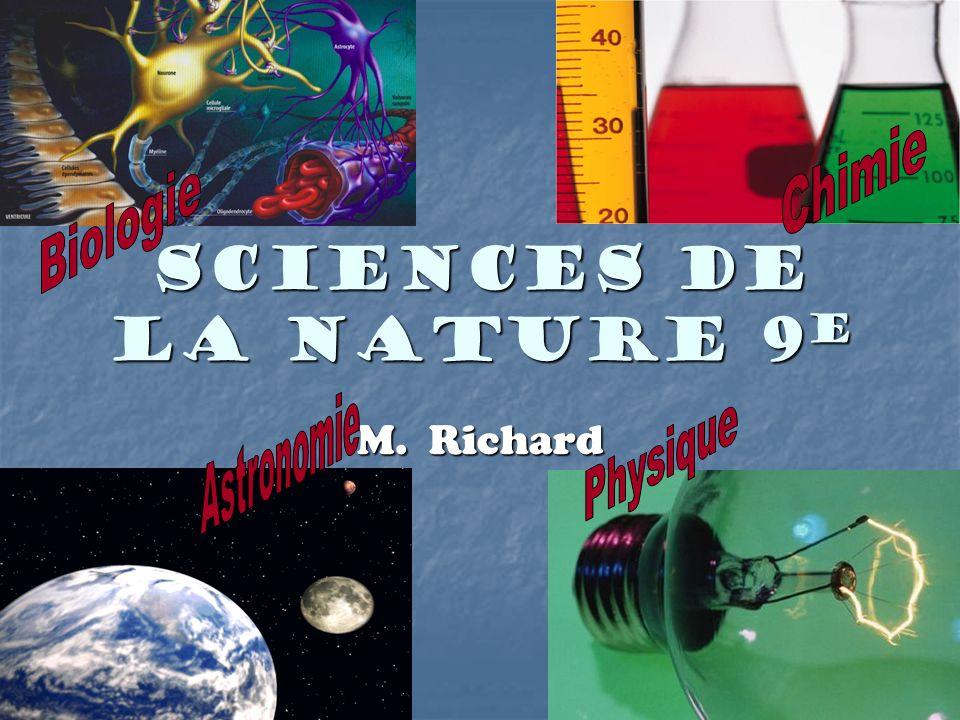 Sciences de la nature 9 e M. Richard