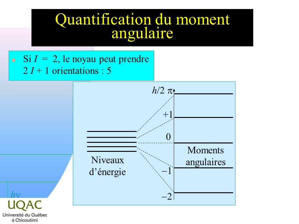 h Quelques définitions n µ est le moment magnétique nucléaire.