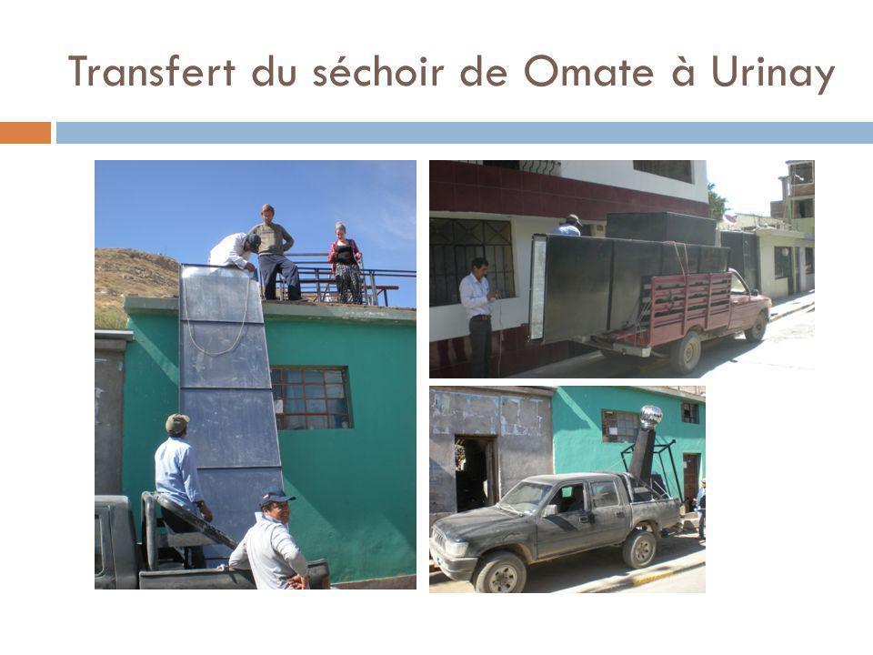 Transfert du séchoir de Omate à Urinay