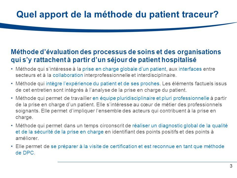 Quel apport de la méthode du patient traceur.