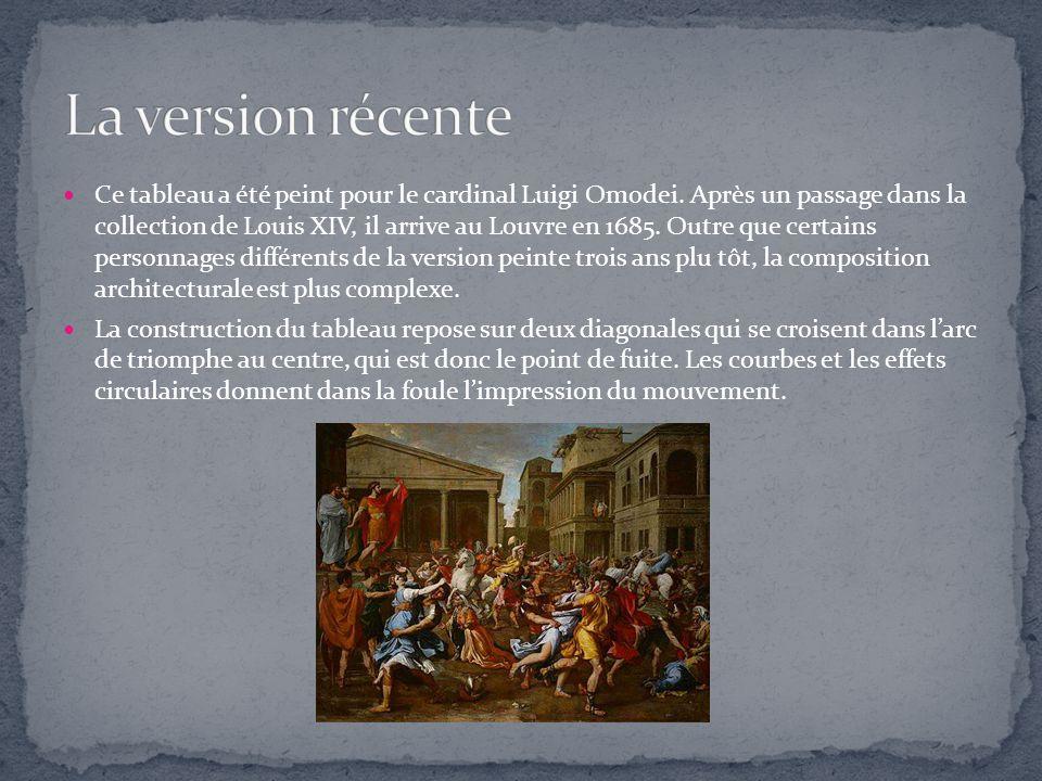 Ce tableau a été peint pour le cardinal Luigi Omodei. Après un passage dans la collection de Louis XIV, il arrive au Louvre en 1685. Outre que certain