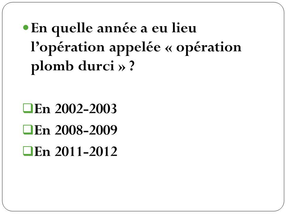 En 2002-2003 En 2008-2009 En 2011-2012