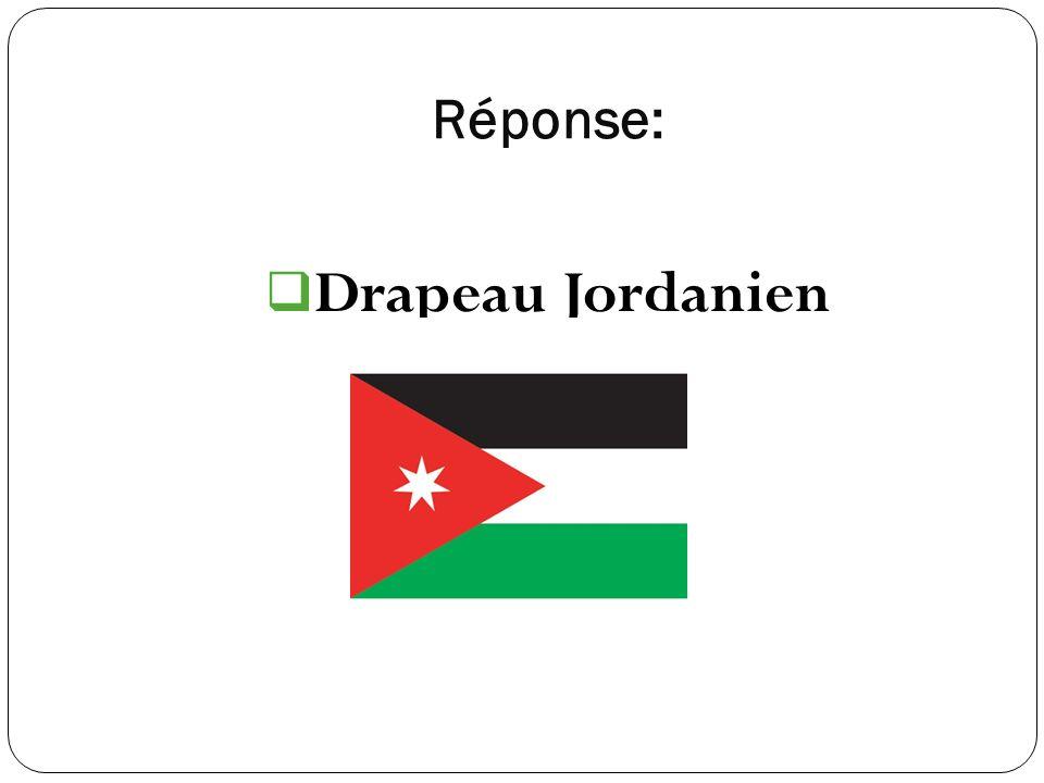 Réponse: Drapeau Jordanien