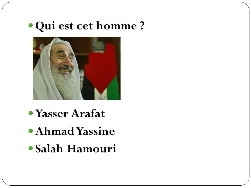 Yasser Arafat Ahmad Yassine Salah Hamouri