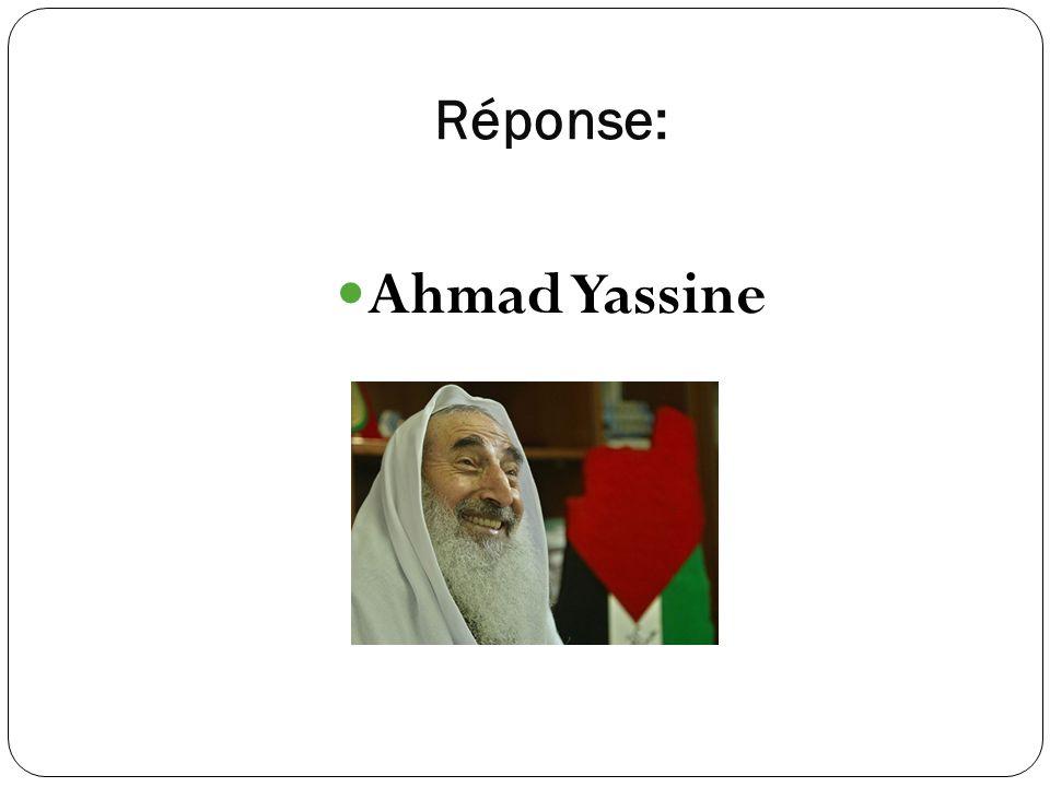 Réponse: Ahmad Yassine
