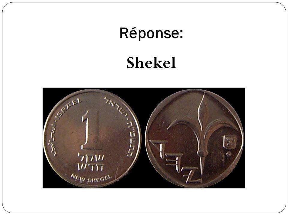 Réponse: Shekel