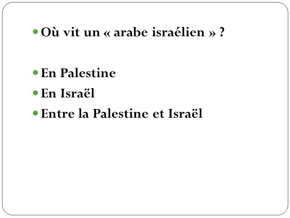 En Palestine En Israël Entre la Palestine et Israël