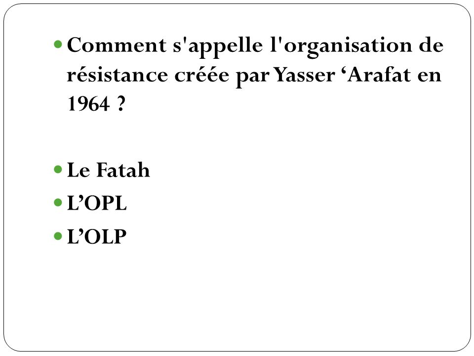 Le Fatah LOPL LOLP