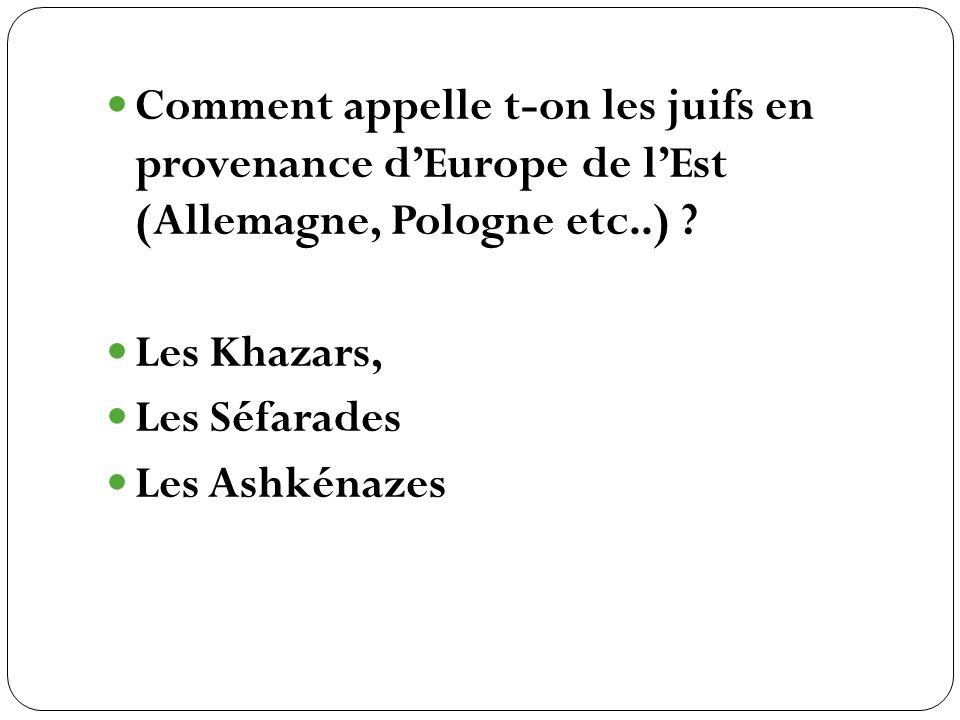 Les Khazars, Les Séfarades Les Ashkénazes